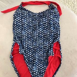 Mossimo Navy Star Swimsuit Size Medium